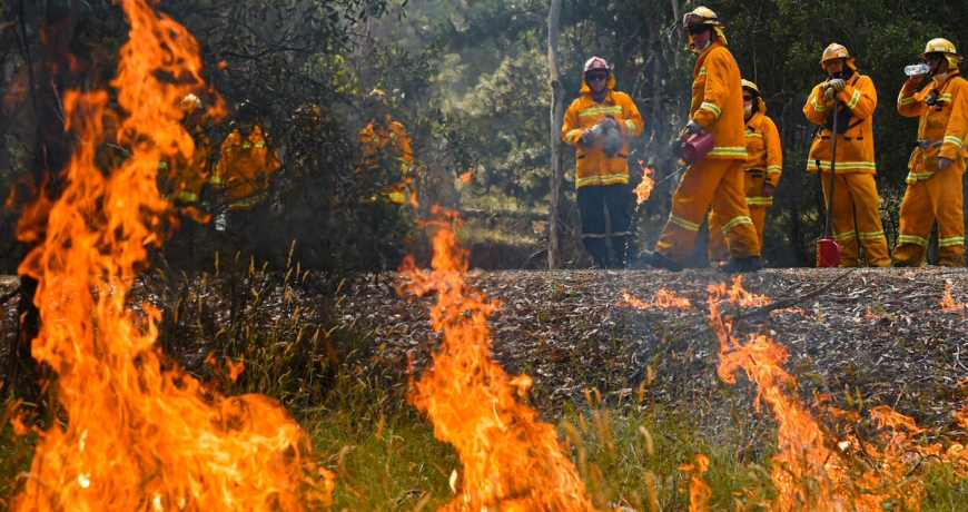 australian wild fire